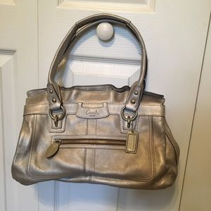Coach silver handbag